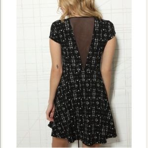 Urban Outfitters Dresses - UO Kimchi Blue Deep V Mesh Skater Dress